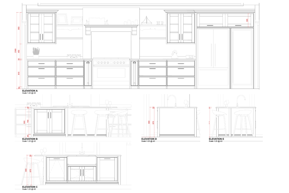 bespoke kitchen designs_sketch design